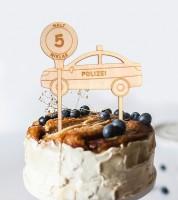 """Dein Cake-Topper """"Polizei"""" aus Holz - Wunschtext"""