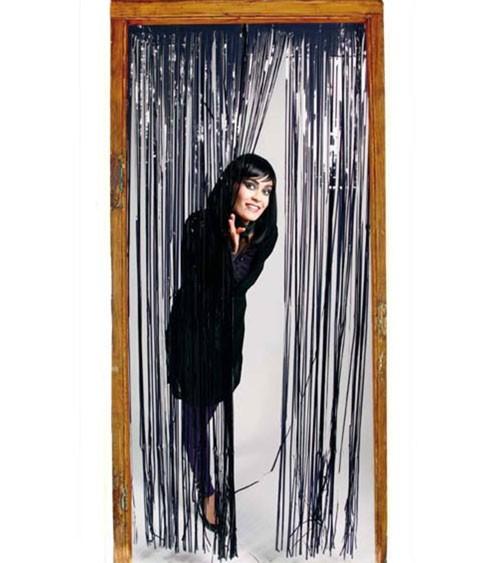 Glitzer-Vorhang - schwarz - 1 x 2 m