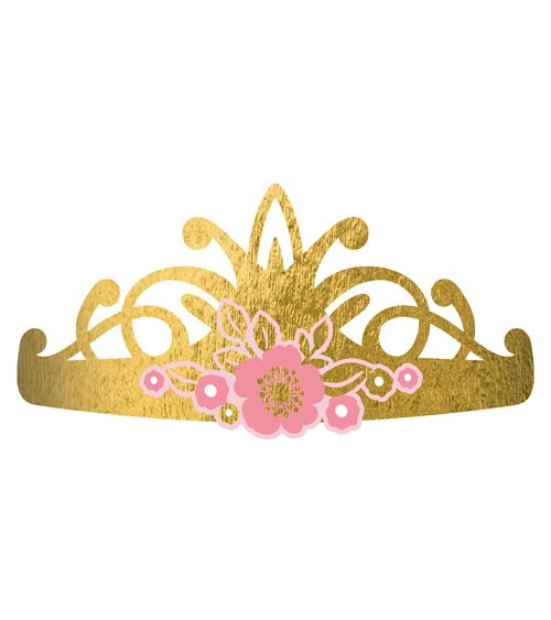 "Tiaras aus Papier ""Princess for a Day"" - 8 Stück"