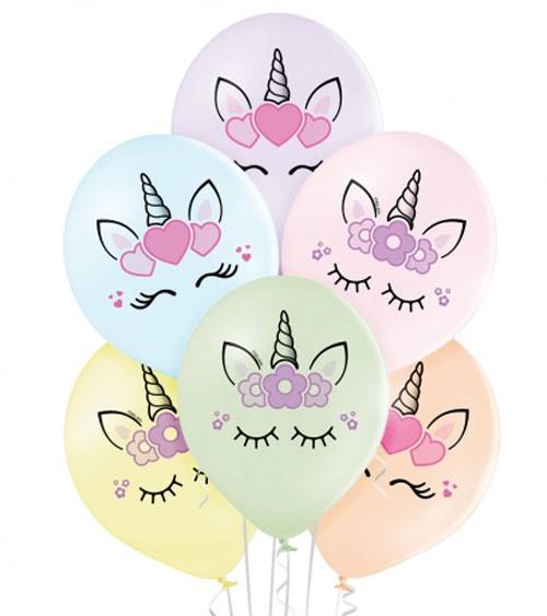 "Luftballon-Set ""Unicorn"" - 6-teilig"