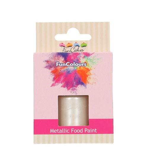 FunCakes Lebensmittelfarbe - metallic perlweiß - 30 ml