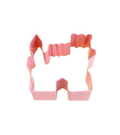 Ausstechform Märchenschloss - rosa - 7,6 cm