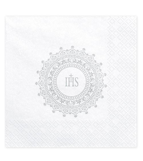 """Servietten """"IHS"""" - silber - 20 Stück"""