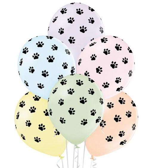 """Luftballon-Set """"Paws"""" - pastell - 6-teilig"""