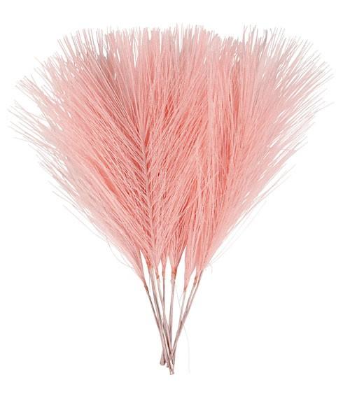Künstliche Federn - 8 x 15 cm - rosa - 10 Stück