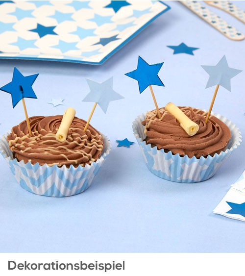 "Cupcake-Picks ""Little Star Blue"" - 20 Stück"