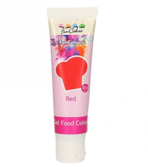 FunCakes Colour-Gel - rot - 30 g