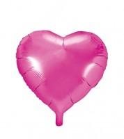Herz-Folienballon - pink - 45 cm