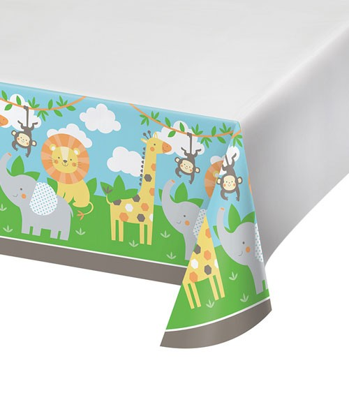 "Kunststoff-Tischdecke ""Safari Tiere"" - 121 x 223 cm"