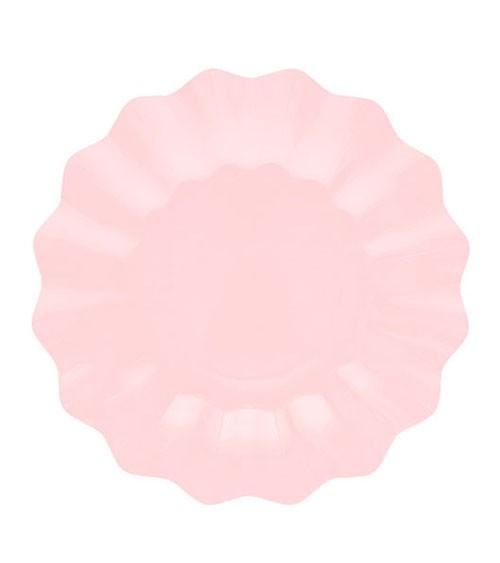 Pappteller - light pink - 8 Stück