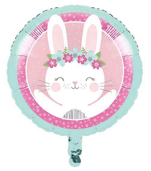 "Runder Folienballon ""Häschen"" - 45 cm"