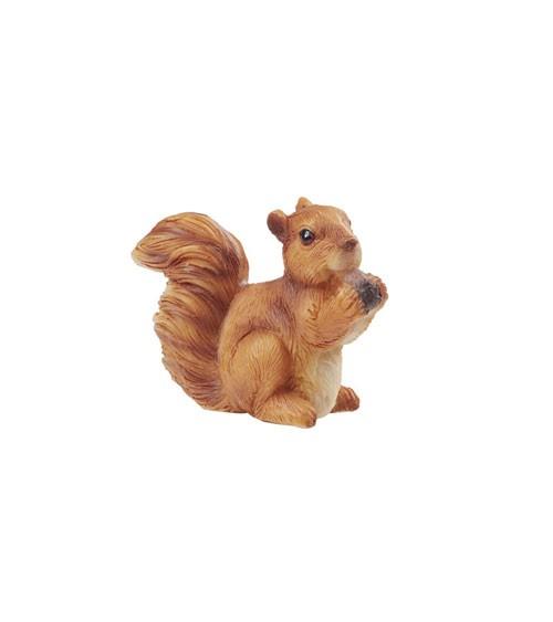 Deko-Eichhörnchen mit Nuss aus Polyresin - 4,5 cm