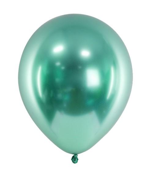 Glossy-Luftballons - flaschengrün - 50 Stück