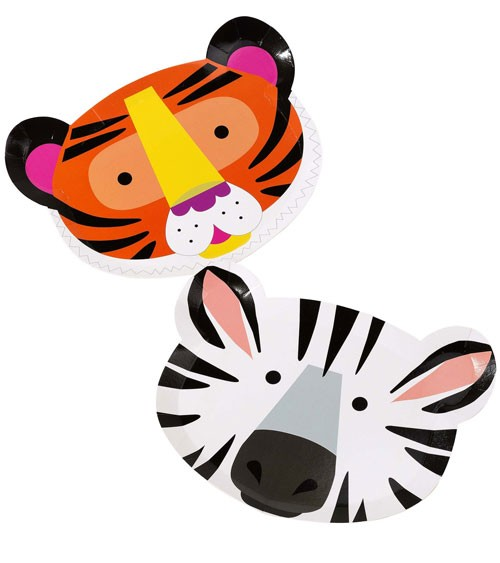 "Shape-Pappteller ""Safari Geburtstag"" - 12 Stück"