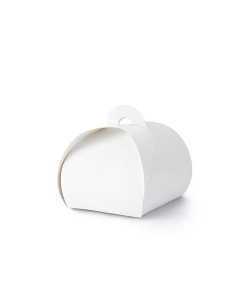 Weiße Geschenkboxen - 6 x 6 cm - 10 Stück