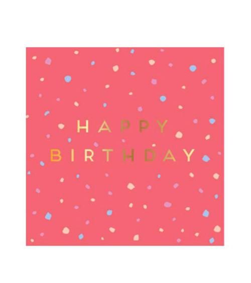 """Cocktail-Servietten """"Rose Pastell""""- Happy Birthday - 16 Stück"""