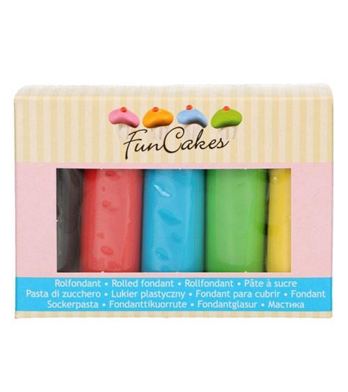 FunCakes Fondant - Farbmix Basics - 5 x 100 g