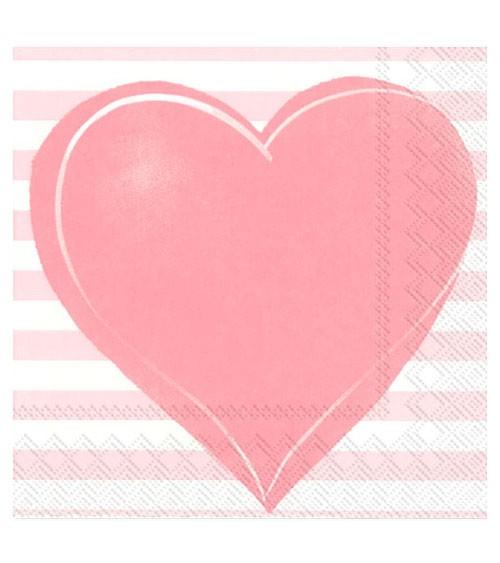 """Servietten """"All you need is love"""" - rosa - 20 Stück"""