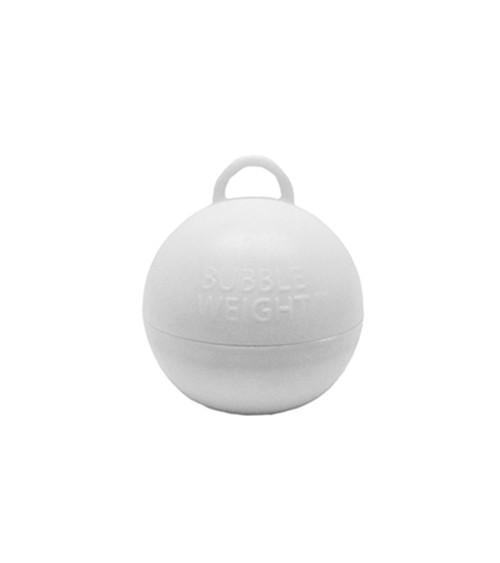 """Ballon-Gewichte """"Bubble"""" - weiß - 25 Stück"""