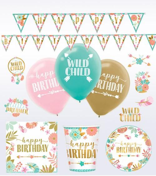 "Geburtstags-Deko-Set ""Boho Birthday Girl"" - 40-teilig"