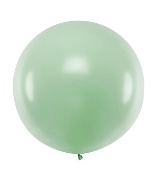 Großer Rundballon - pastell pistazie - 60 cm