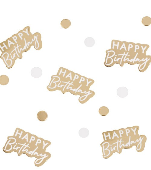 "Konfetti ""Mix it up"" - Happy Birthday - metallic gold - 13 g"