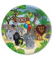 """Pappteller """"Zoo"""" - 8 Stück"""