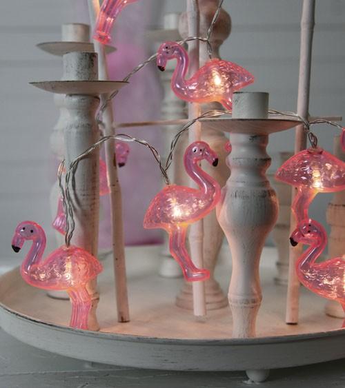 """LED-Party-Girlande """"Flamingos"""" - 2,3 m"""