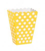 """8 Süßigkeitenboxen """"Big Dots"""" - gelb"""
