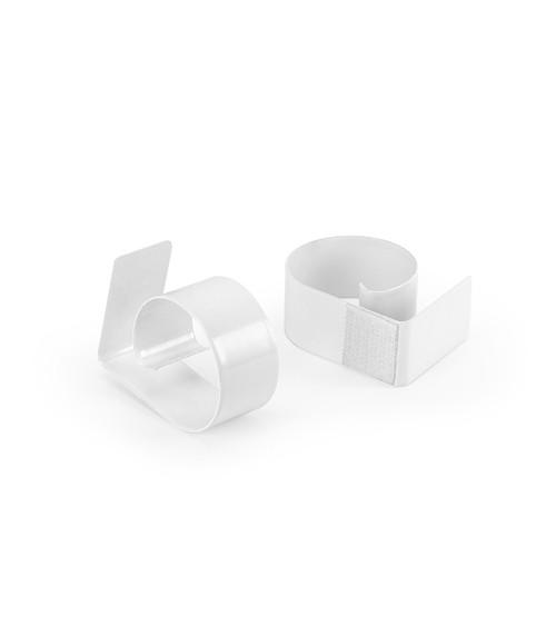 Tischklammern aus Metall mit Klett - 10 Stück