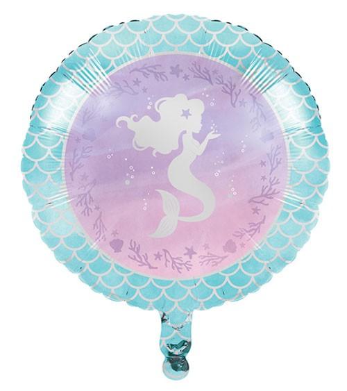 "Runder Folienballon ""Mermaid Shine"" - 45 cm"