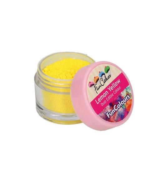 Funcakes Lebensmittelfarbe Pulver - zitronengelb - 2,5 g