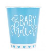 """Pappbecher """"Baby Shower - blau"""" - 8 Stück"""