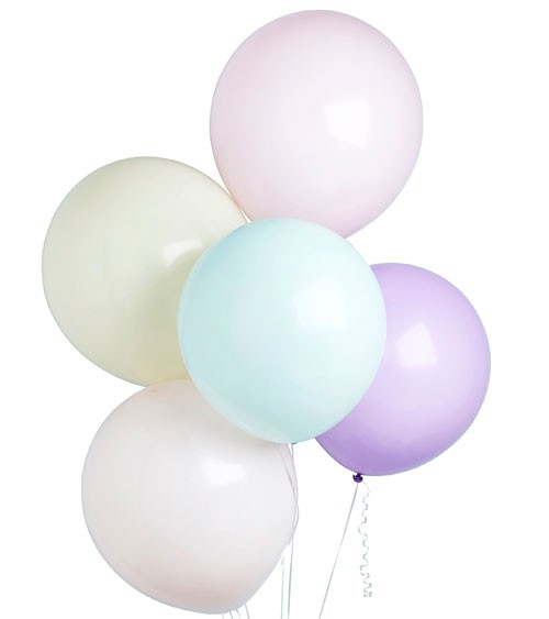 Luftballon-Set - pastell - 46 cm - 5-teilig