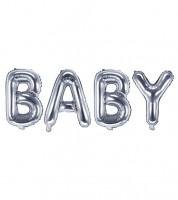 "Folienballon-Set ""BABY"" - silber - 35 cm"