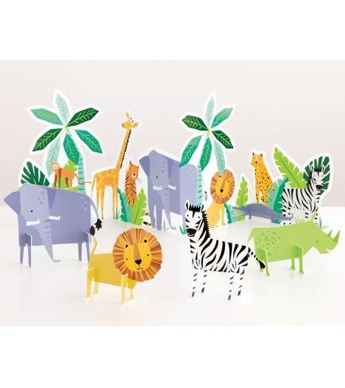 """3D-Tischaufsteller-Set """"Animal Safari"""" - 5-teilig"""