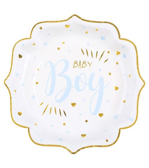 """Pappteller """"Baby Boy"""" - 10 Stück"""