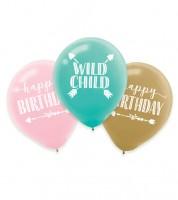 """Luftballon-Set """"Boho Birthday Girl"""" - 6 Stück"""