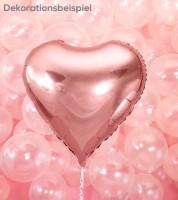 Herz-Folienballon - rosegold - 61 cm