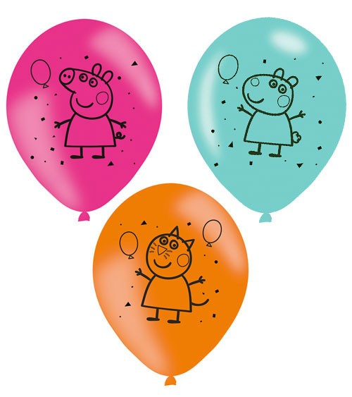 "Luftballon-Set ""Peppa Wutz"" - 6-teilig"