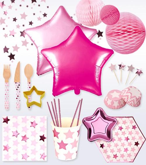 "Deko-Set ""Little Star Pink"" - 74-teilig"