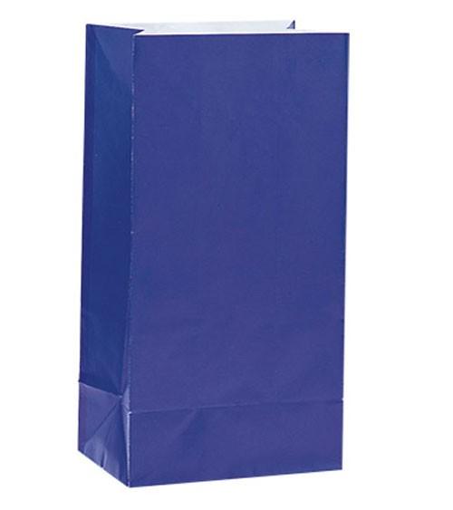 12 Papiertüten - königsblau