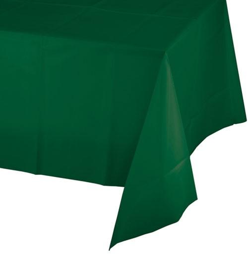 Kunststoff-Tischdecke - hunter green - 137 x 274 cm