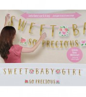 "Girlanden-Set ""Sweet Baby Girl"" - 2-teilig"