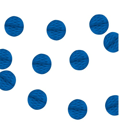 Mini-Wabenball-Girlande - 2,13 m - königsblau