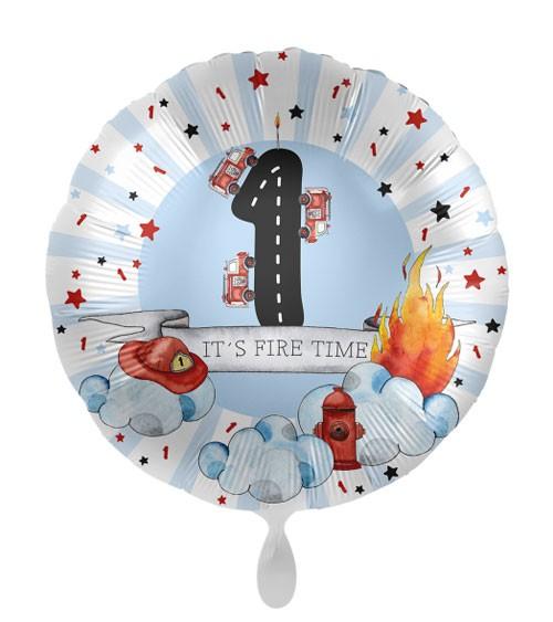 "Folienballon ""Happy Fire Engine"" - 1. Geburtsag"