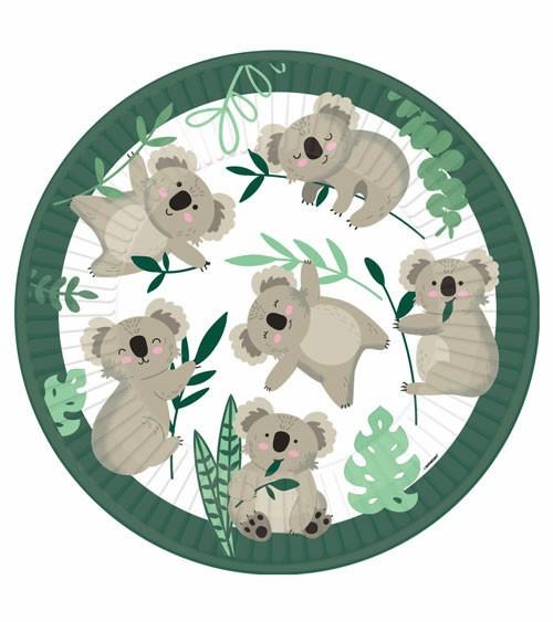 """Pappteller """"Koala"""" - 8 Stück"""