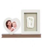 Hand- und Fußabdruck-Set mit Herz- und Standrahmen
