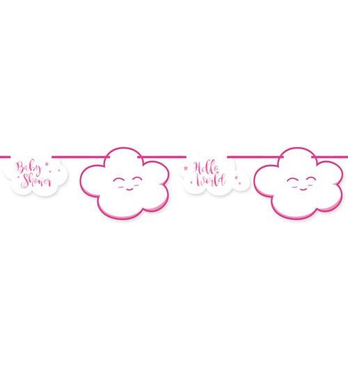 """Motivgirlande """"Wolken Baby Shower"""" - rosa - 4 m"""
