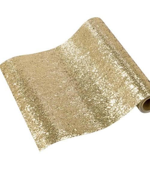 Tischläufer - glitter gold - 30 cm x 1,8 m